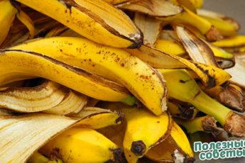 Польза банановой шкурки.