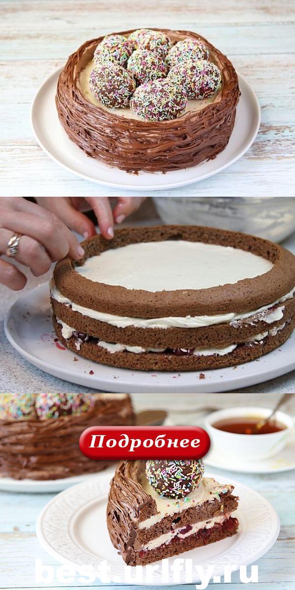 Пасхальный торт «Гнёздышко», КАКОГО ЕЩЁ НЕ БЫЛО!