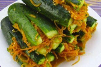 Улетная закуска «Огурцы по-корейски». Покоряет сразу!